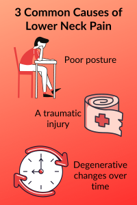 Common Causes of Lower Neck Pain Infographic